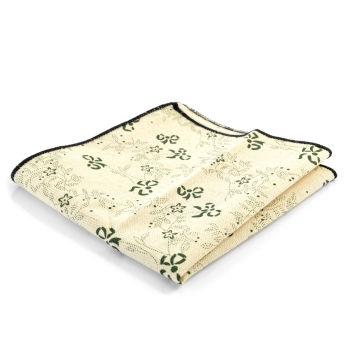 Кърпичка за сако в кремаво