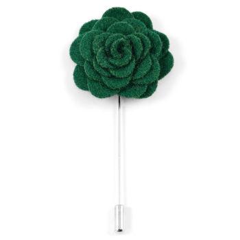 Tummanvihreä Rose Rintaneula