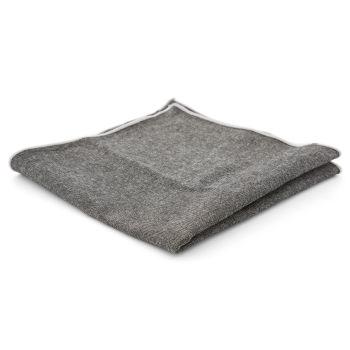 Pañuelo de bolsillo de lana gris