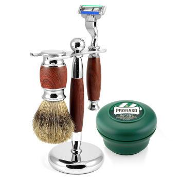 Conjunto de Barbear em Pau-Rosa Modena