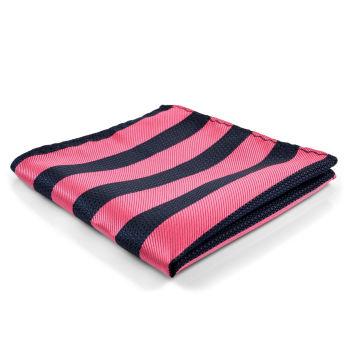 Pañuelo de bolsillo con rayas rosas