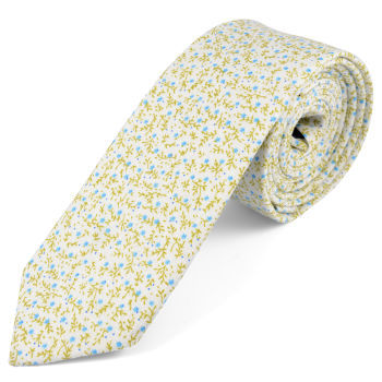 Corbata en algodón azul Forrest
