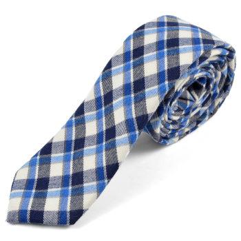 Corbata de lana con mezcla de azules