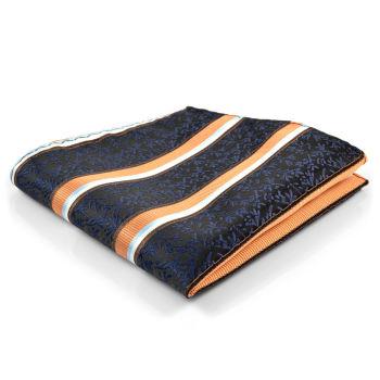 Pañuelo de bolsillo negro estampado