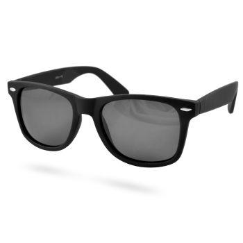 Czarne matowe okulary słoneczne polaryzacyjne retro