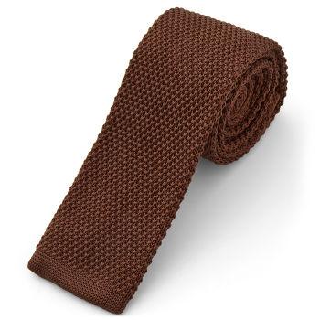 Corbata de punto chocolate