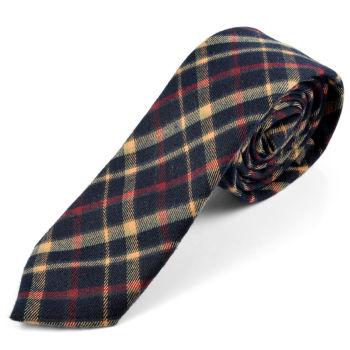 Corbata de lana retro negra