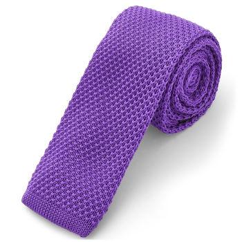 Corbata de punto lila