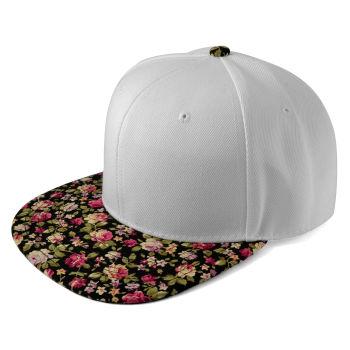 Gorra Snapback blanca y rosa