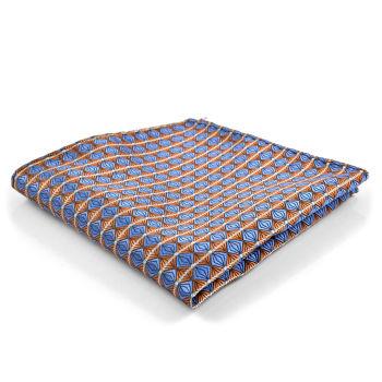 Pañuelo de bolsillo a cuadros azul/marrón