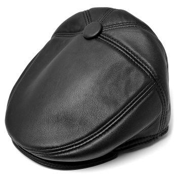 Gorra de caza Sixpence cuero