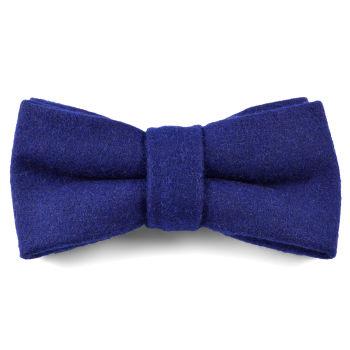 Pajarita de lana hecha a mano azul