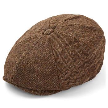 Gorra Newsboy marrón oscuro