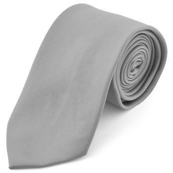 Corbata básica gris claro 8 cm