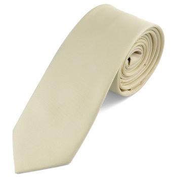 Corbata color crema hecha a mano