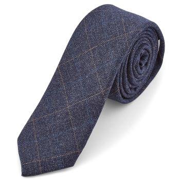 Corbata azul marino a cuadros