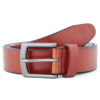 Brown & Gray Classic Leather Belt