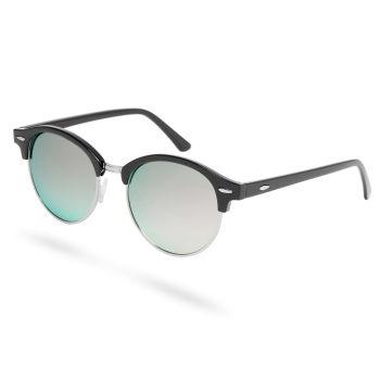 Zwarte & Lichtgroene Zonnebril met Gepolariseerde Glazen