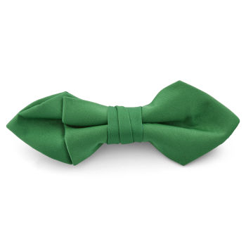 Pajarita básica puntiaguda verde esmeralda