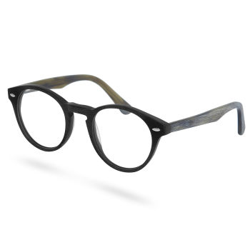 Gafas transparentes básicas negro y marrón