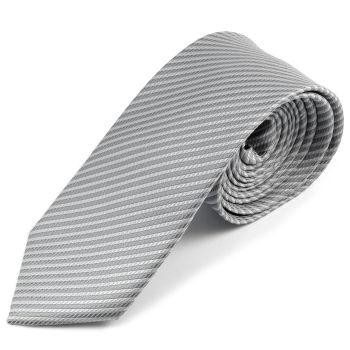 Corbata de microfibra gris