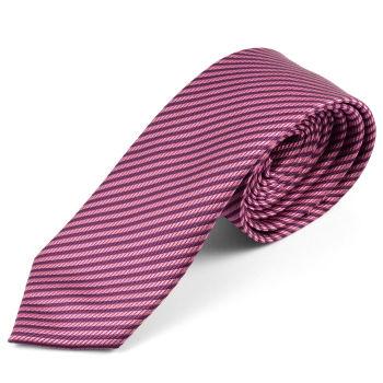 Corbata de microfibra con rayas púrpura