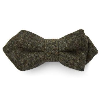 Pajarita puntiaguda de lana verde oscuro