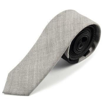 Corbata de lana con un diseño gris brillante