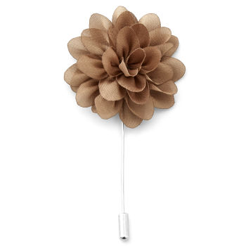 Peony Brown Lapel Flower