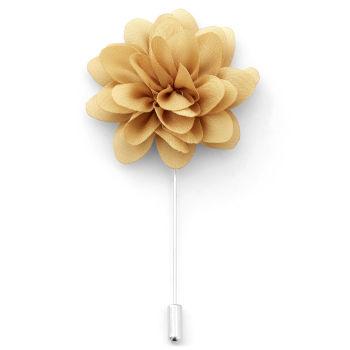 Peony Golden Beige Lapel Flower