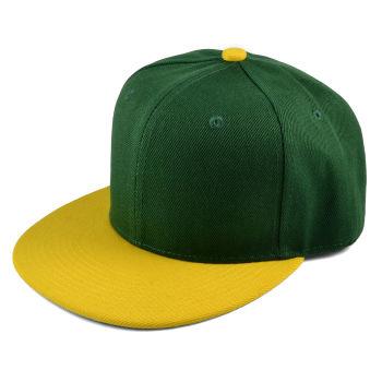 Gorra Snapback verde y amarilla