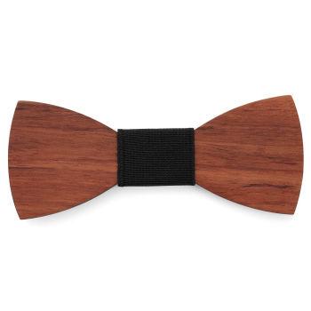 Pajarita de madera de bubinga marrón