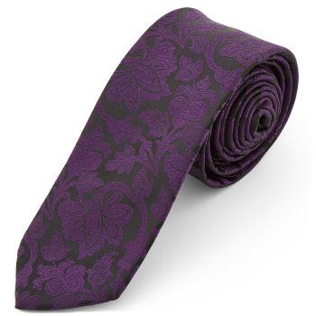 Corbata de poliéster barroca morada y negra