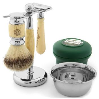 Conjunto de Barbear Cinza