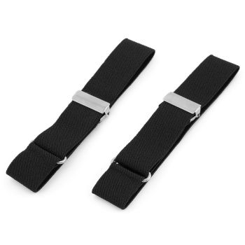 Plain Black Sleeve Garters