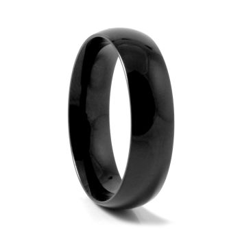 Black Glossy Steel Ring