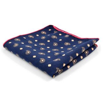 Pañuelo de bolsillo con estampado de cachemira pequeño
