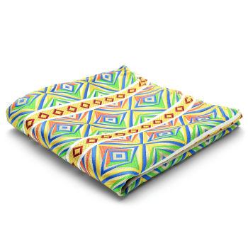 Pañuelo de bolsillo de seda multicolor