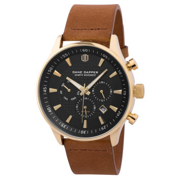 Brown, Gold-Tone & Black Troika Watch