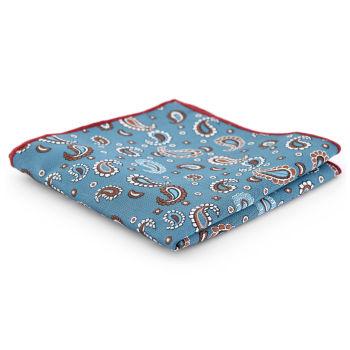 Pañuelo de bolsillo con estampado cachemira turquesa claro