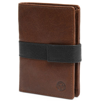 Montreal Executive Tan & Black RFID Leather Wallet