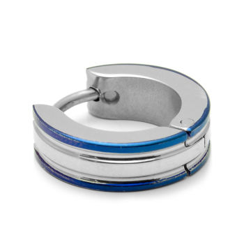 Blue Edge Earring