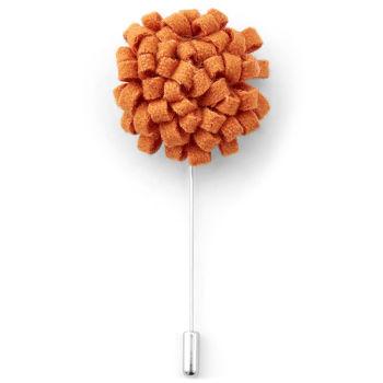 Flor de solapa creativa naranja vivo