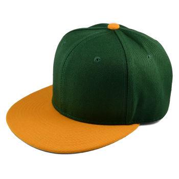 Gorra Snapback verde y naranja