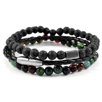 Set di braccialetti Living verde