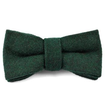 Pajarita de lana hecha a mano verde