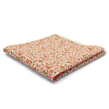 Pañuelo de bolsillo de algodón rosa abstracto
