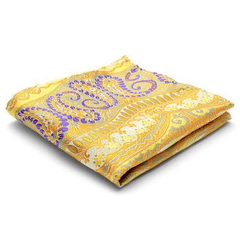 Pañuelo de bolsillo de seda con estampado