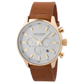 Braune Goldfarbene & Weiße Troika Armbanduhr