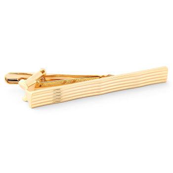 Mola de Gravata Onda Dourada